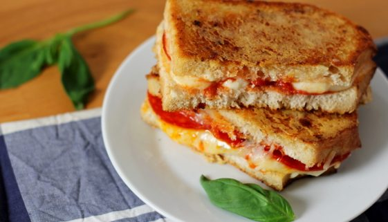 best pepperoni pizza grilled cheese sandwich recipe