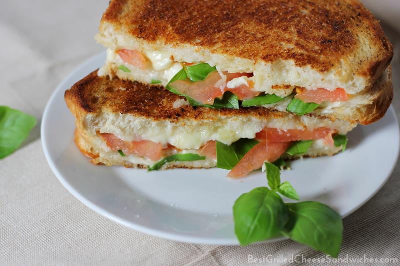 Italian caprese grilled cheese sandwich recipe