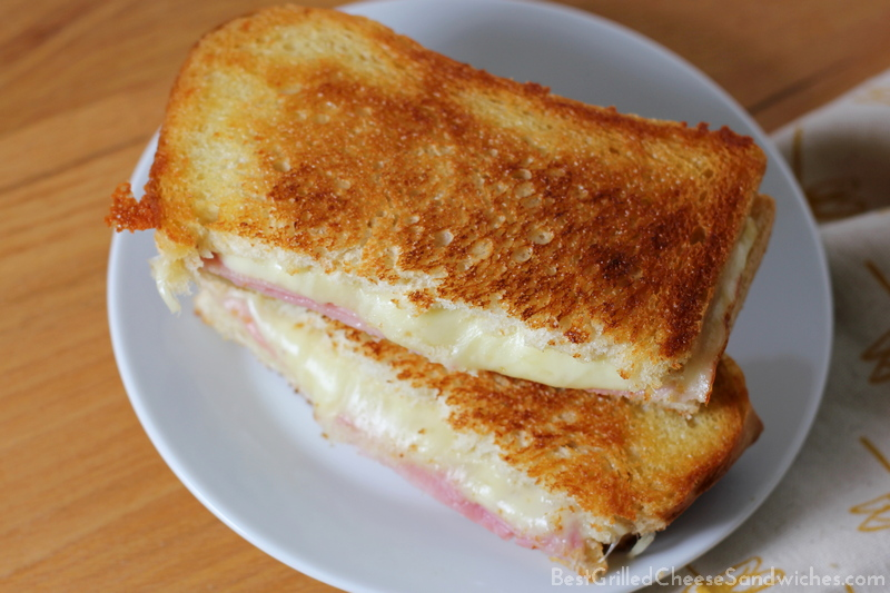 ham and cheese grilled cheese sandwich recipe