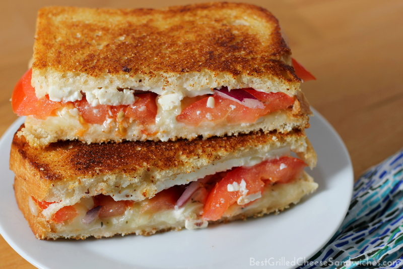 Greek grilled cheese sandwich recipe without olives