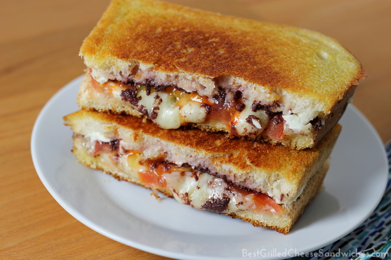 Greek feta grilled cheese sandwich recipe without onions