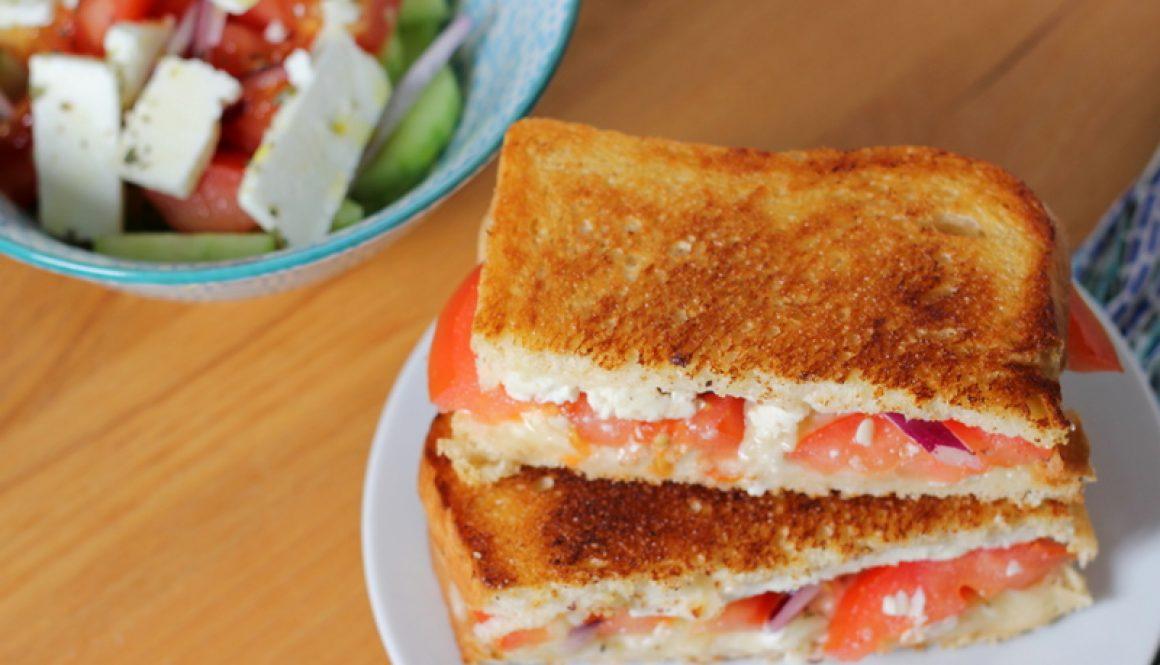 best Greek feta grilled cheese sandwich recipe