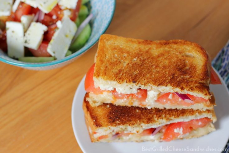 best Greek feta grilled cheese sandwich recipe