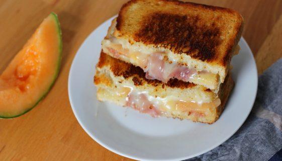 best asiago prosciutto melon grilled cheese sandwich recipe