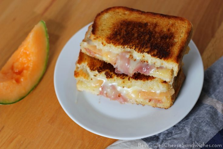 best asiago prosciutto melon grilled cheese sandwich recipe