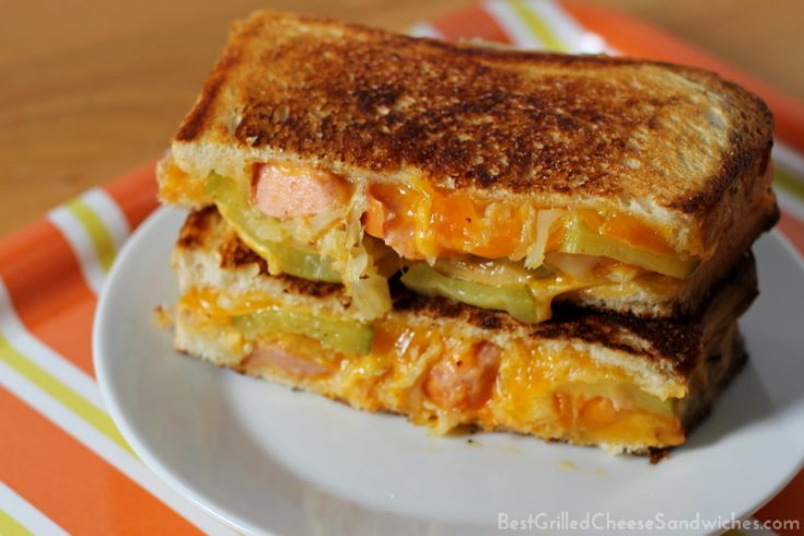 Hot Dog Grilled Cheese Sandwich Recipe Best Grilled Cheese Sandwiches
