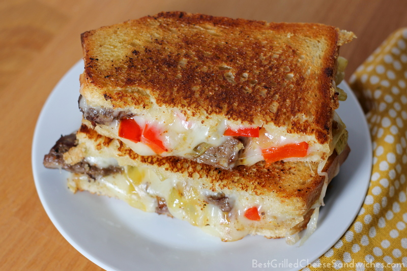 best philly cheesesteak grilled cheese sandwich recipe