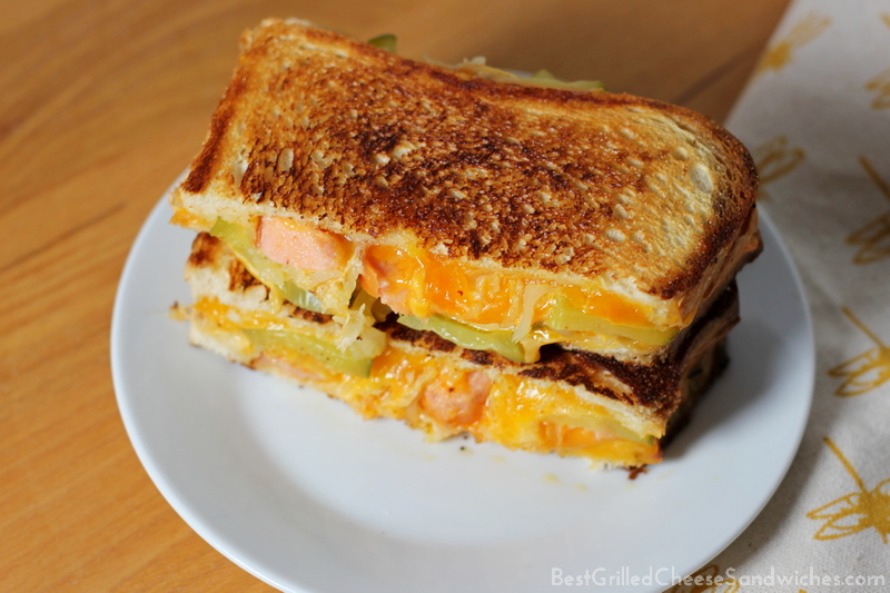hot dog grilled cheese sandwich recipe
